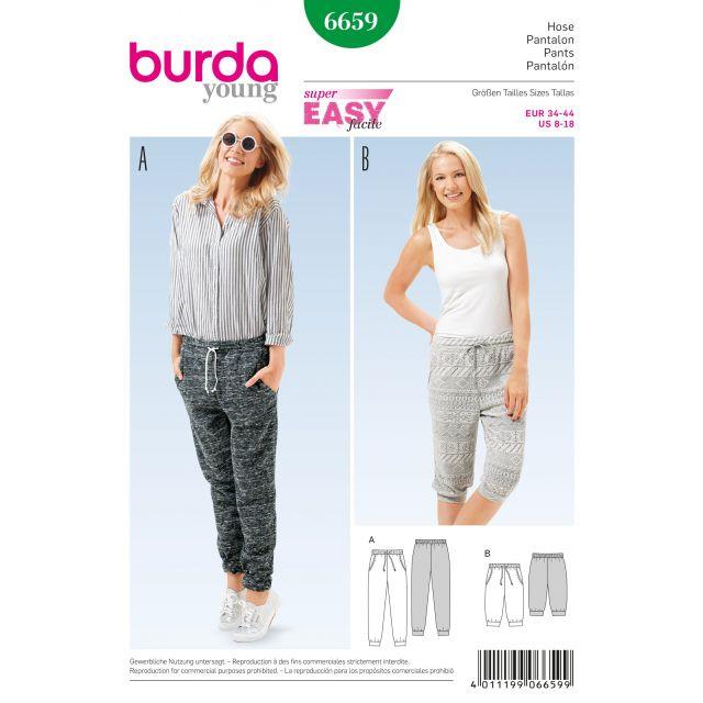 Patron Burda 6659 Pantalon