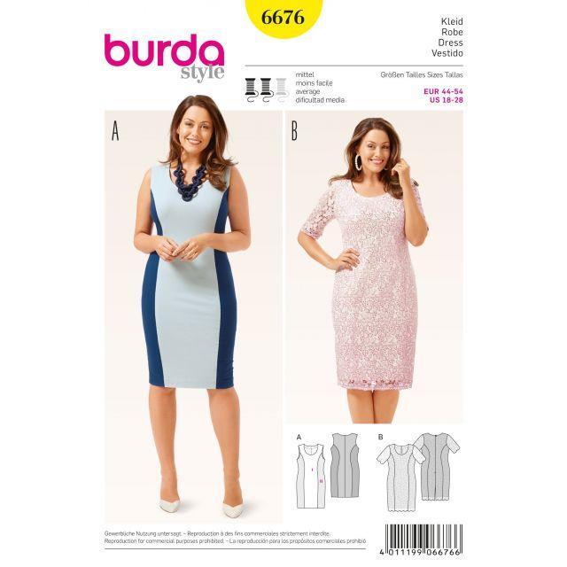 Patron Burda 6676 Robe