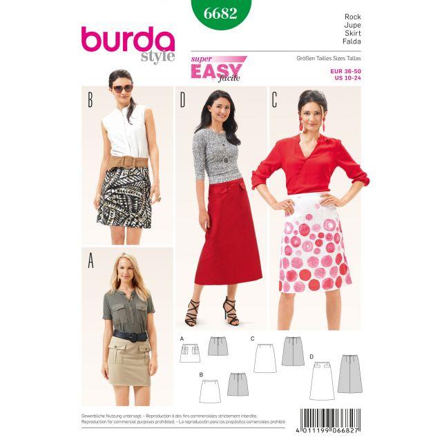 Patron Burda 6682 Jupe