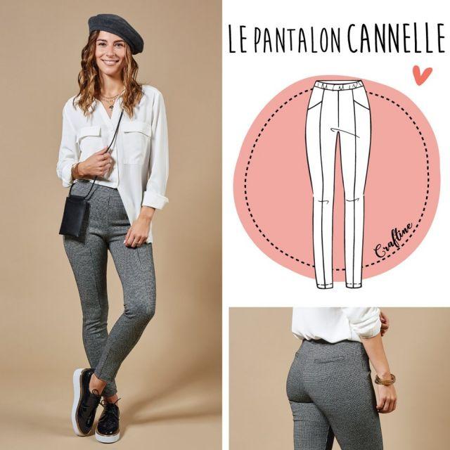 Patron Craftine Pantalon Cannelle