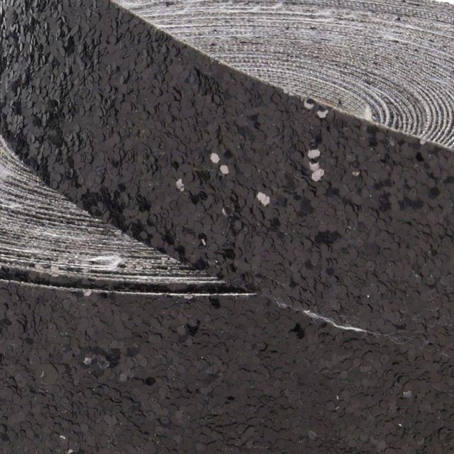 Galon Glitter Noir 50 mm x1m