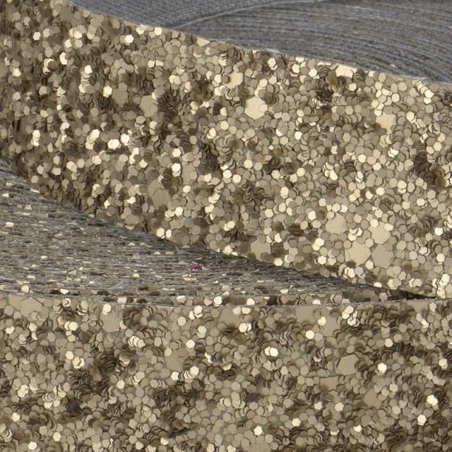 Galon Glitter Bronze 50 mm  x1m
