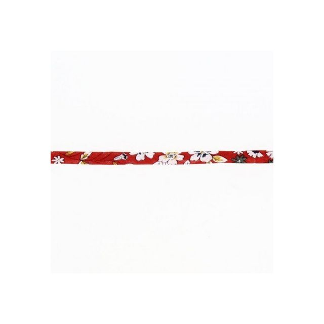 Cordon fleuri spaghetti Frou-Frou Rouge et vert