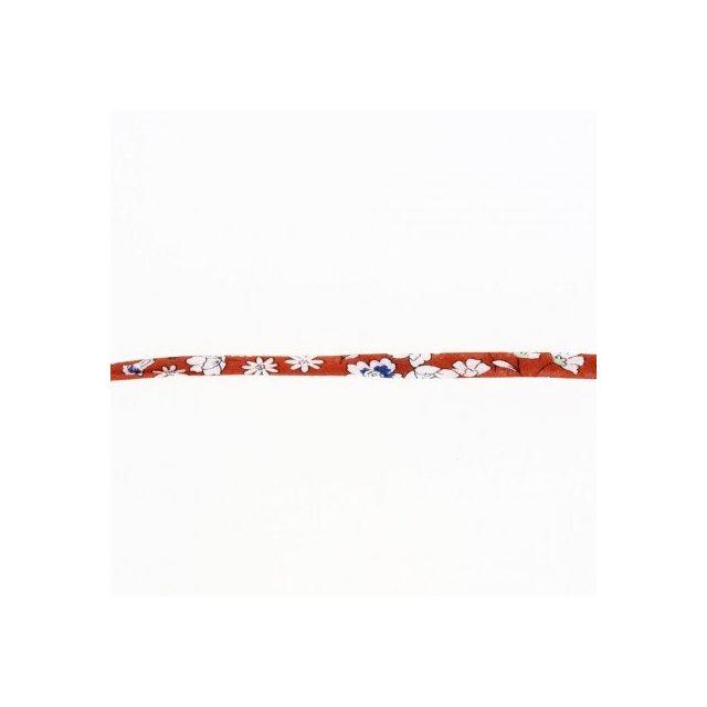 Cordon fleuri spaghetti Frou-Frou Cognac et blanc