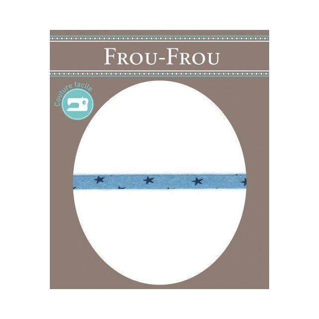 Cordon Etoile spaghetti Frou-Frou Bleu ciel