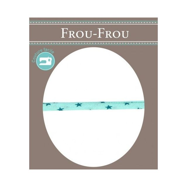 Cordon Etoile spaghetti Frou-Frou Bleu vert