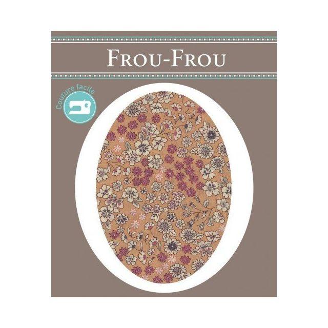 Genouillères-coudières thermocollantes Fleuri Frou-Frou Kaki et ecru