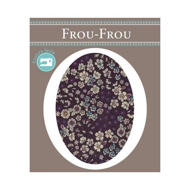 Genouillères-coudières thermocollantes Fleuri Frou-Frou Prune et ecru