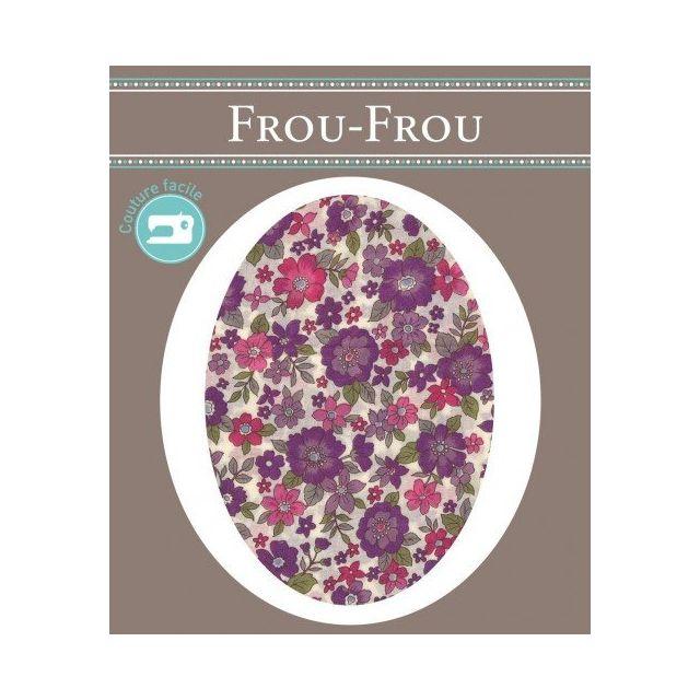 Genouillères-coudières thermocollantes Fleuri Frou-Frou Ecru, framboise et parme