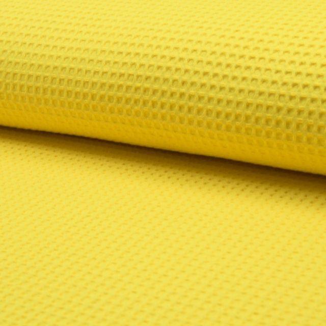 Tissu Nid d'abeille Jaune x10cm