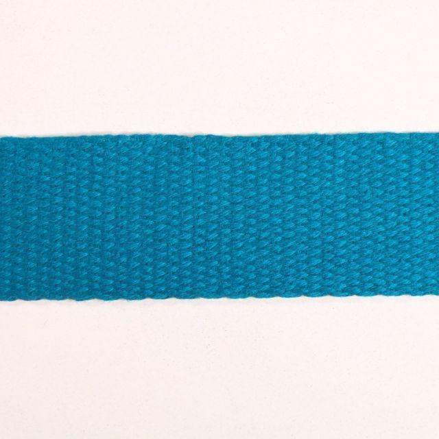 Sangle Coton 30 mm Bleu canard x1m