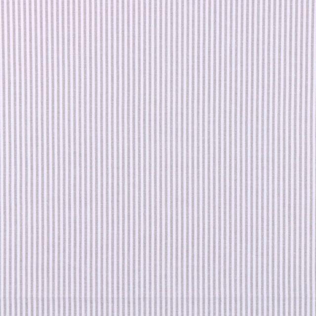 Tissu Vichy Rayures Gris x10cm
