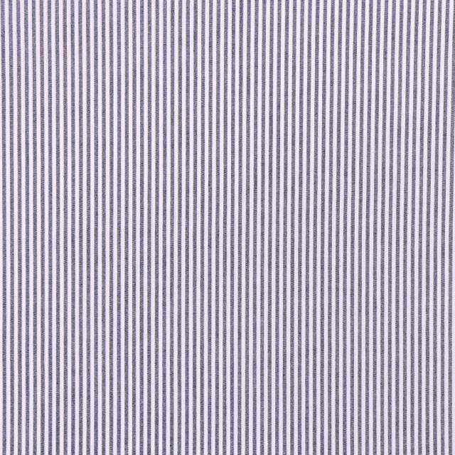 Tissu Vichy Rayures Bleu marine x10cm