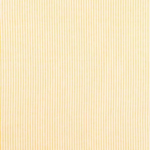 Tissu Vichy Rayures Jaune - Par 10 cm