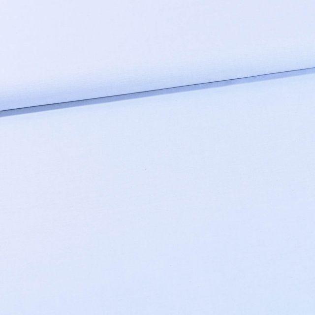 Tissu Chambray Coton uni Bleu dragée - Par 10 cm