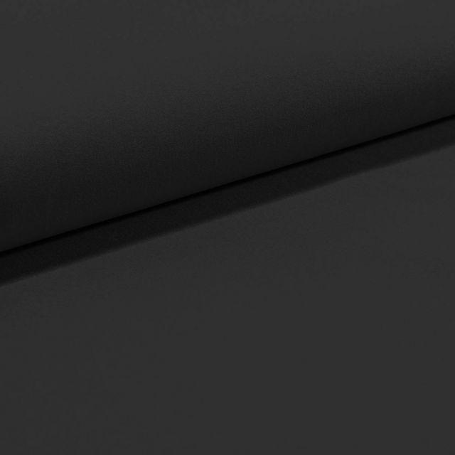 Tissu Gabardine Légère uni Noir - Par 10 cm