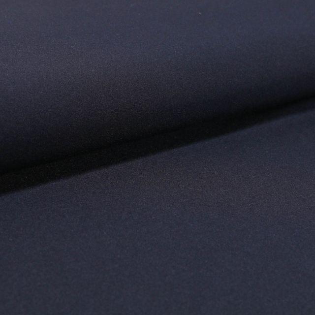 Tissu Gabardine Légère uni Bleu marine - Par 10 cm