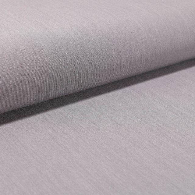 Tissu Gabardine Légère uni Gris - Par 10 cm