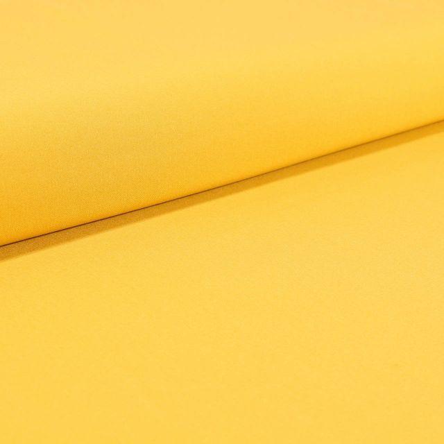 Tissu Gabardine Légère uni Jaune - Par 10 cm