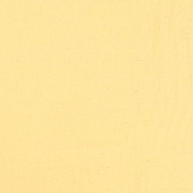 Tissu Lin Viscose léger uni Jaune - Par 10 cm