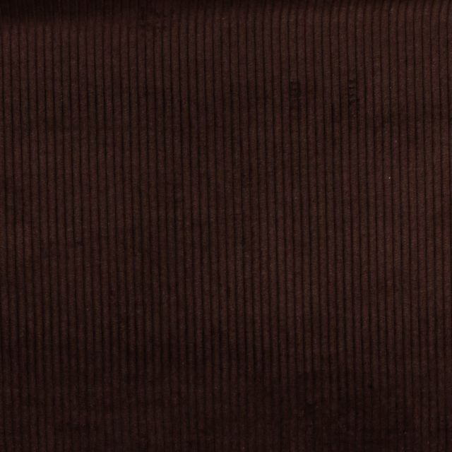 Tissu Velours Grosses côtes Chocolat x10cm