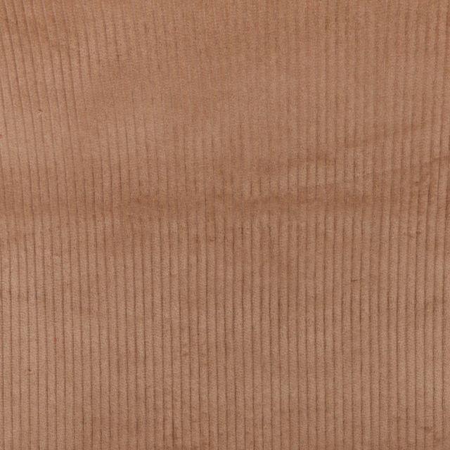 Tissu Velours Grosses côtes Marron clair x10cm