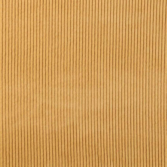 Tissu Velours Grosses côtes Moutarde - Par 10 cm