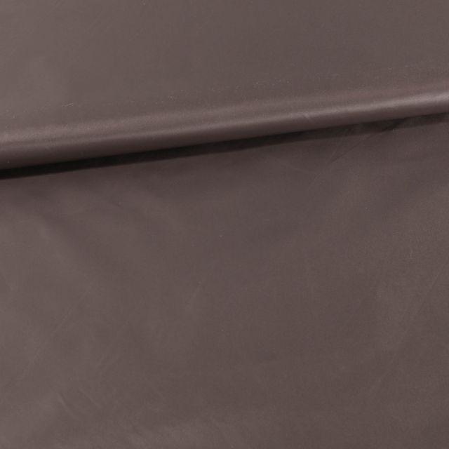 Tissu Déperlant k-way  Marron glacé - Par 10 cm
