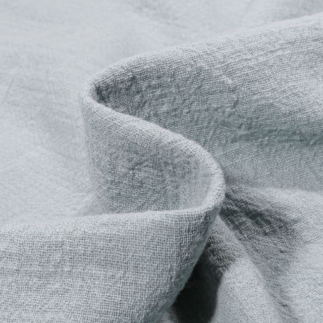 Tissu Coton lavé uni Alba Bleu gris