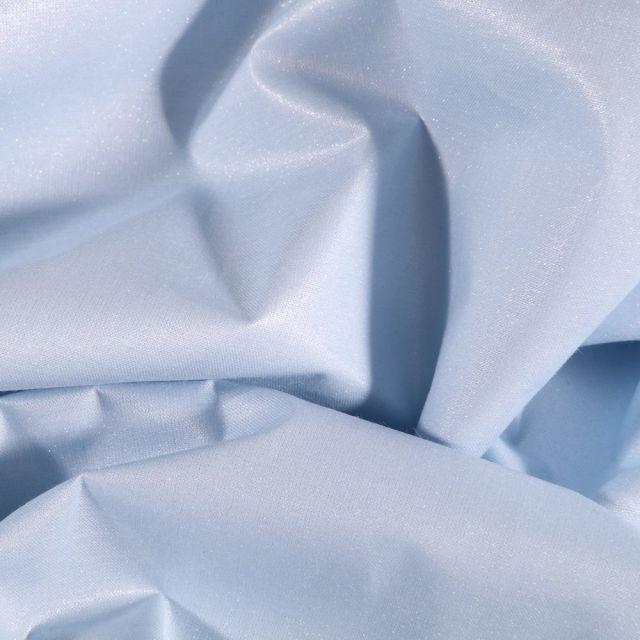 Tissu Coton irisé déperlant Bleu - Par 10 cm