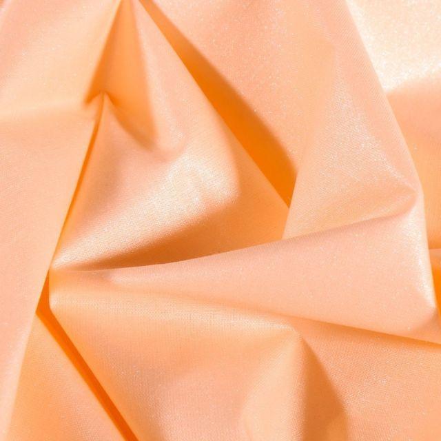 Tissu Coton irisé déperlant Saumon - Par 10 cm