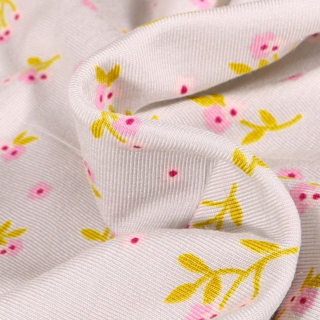 Tissu Jersey Modal Lilly sur fond Gris clair