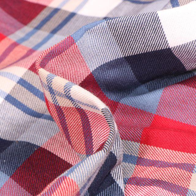 Tissu Chemise   Carreaux n°25 sur fond Bleu
