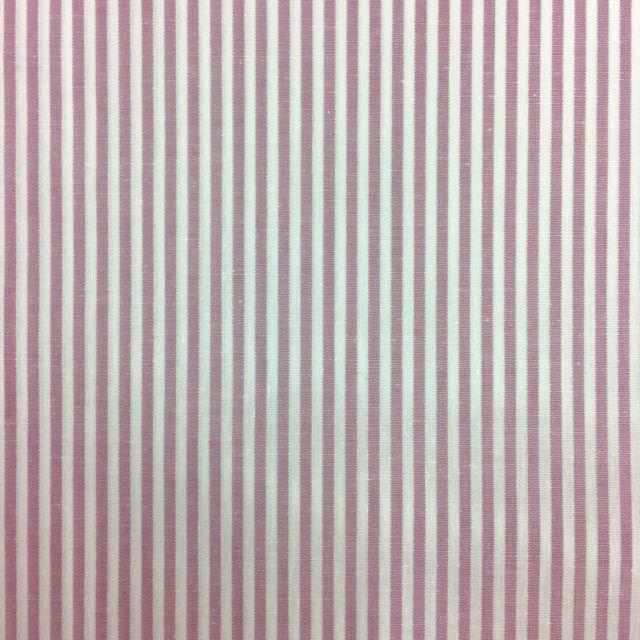 Tissu Vichy Rayures Mauve - Par 10 cm