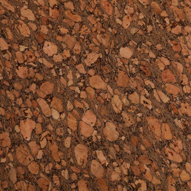 Tissu Liège  Paillettes or sur fond Naturel - Par 10 cm