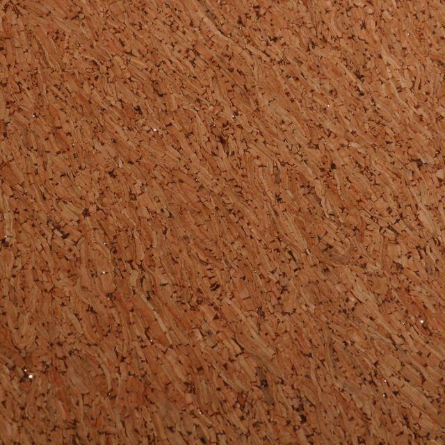 Tissu Liège  Paillettes argent sur fond Naturel - Par 10 cm
