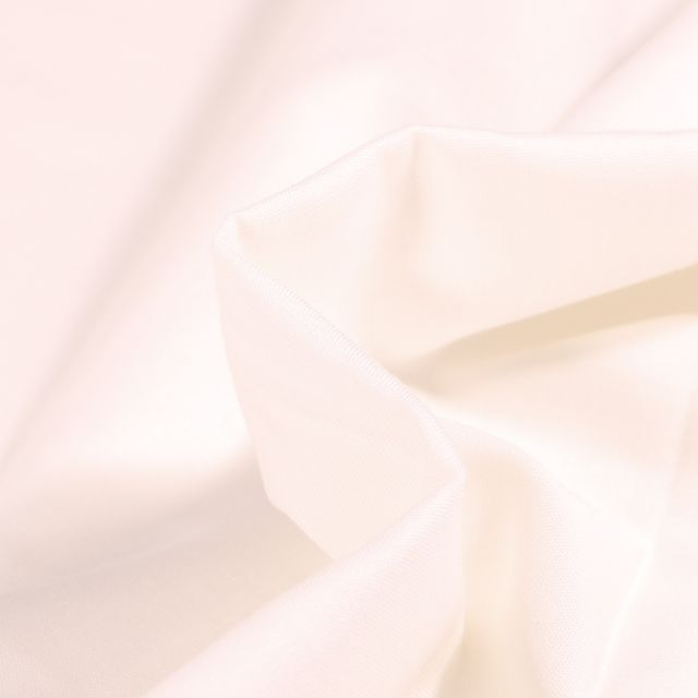 Tissu Popeline de coton unie Bio Blanc cassé