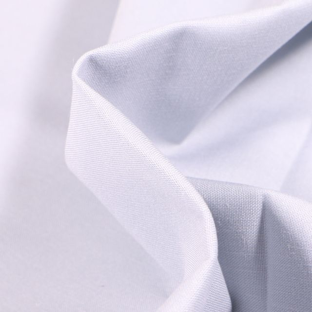 Tissu Popeline de coton unie Bio Gris clair