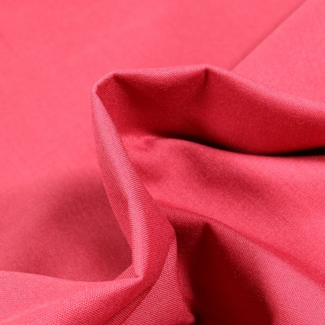 Tissu Popeline de coton unie Bio Grenadine