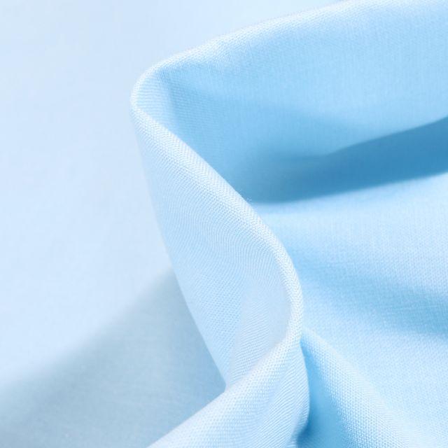 Tissu Popeline de coton unie Bio Bleu layette