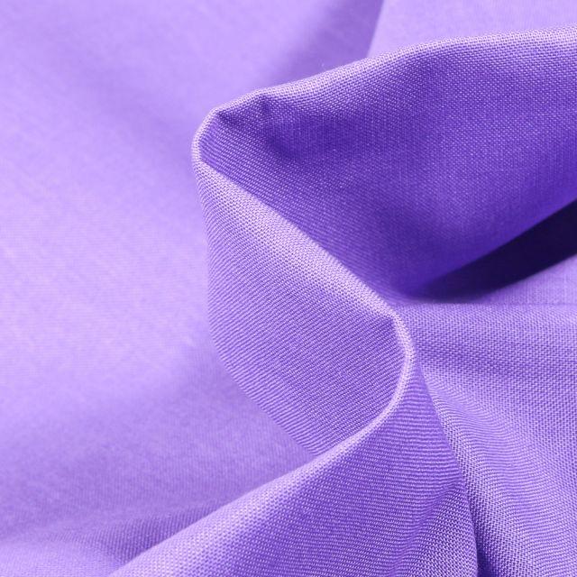 Tissu Popeline de coton unie Bio MORADO sur fond Violet