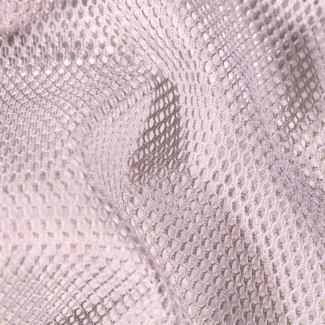 Tissu Filet Vrac mesh Gris - Par 10 cm