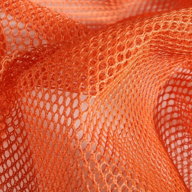 Tissu Filet Vrac mesh Orange - Par 10 cm