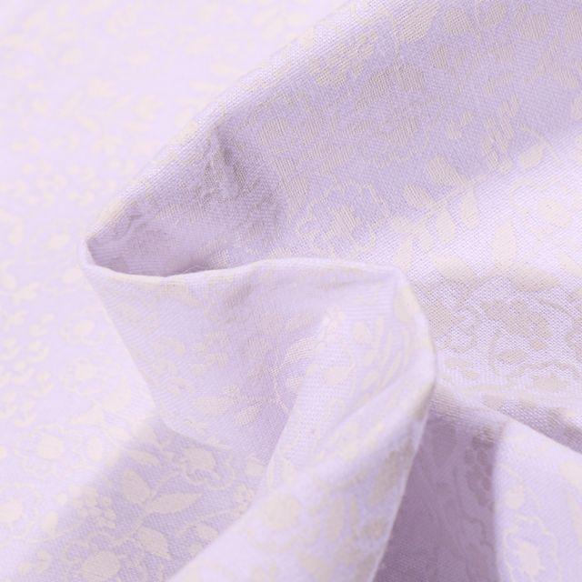 Tissu Coton MC Fabrics Feuillages blanches sur fond Blanc