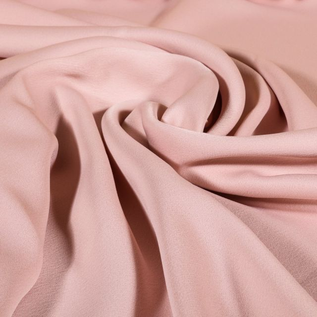 Tissu Crêpe satin mat Rose pâle x10cm