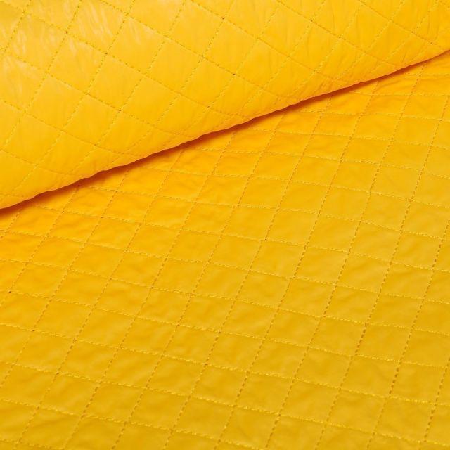 Tissu Doudoune matelassé London uni Jaune - Par 10 cm