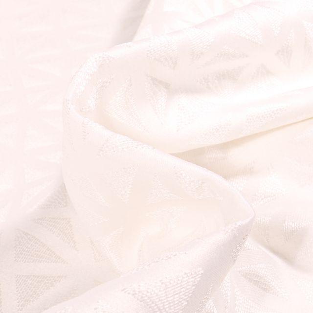 Tissu Jacquard texturé Aura sur fond Blanc