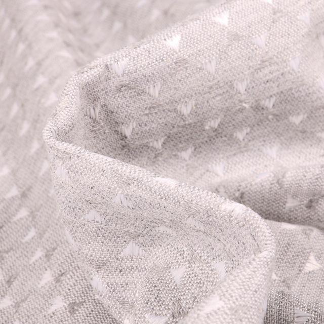 Tissu Jacquard Juno sur fond Gris clair