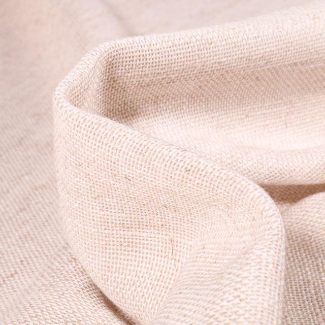 Tissu Toile Casual aspect lin Grande largeur Beige chiné