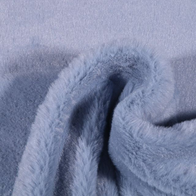 Tissu Fausse fourrure Bear Ultra douce Bleu ciel - Par 10 cm